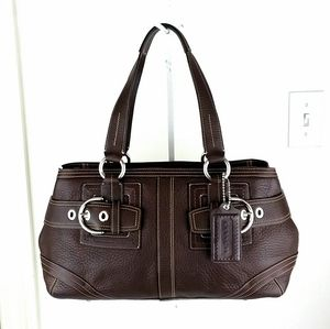Coach Hamptons Large Leather Satchel